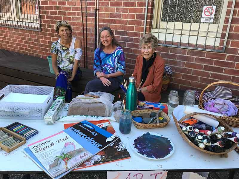 MDNC Inaugural Open Day Mullumbimby 2019 Art Therapy
