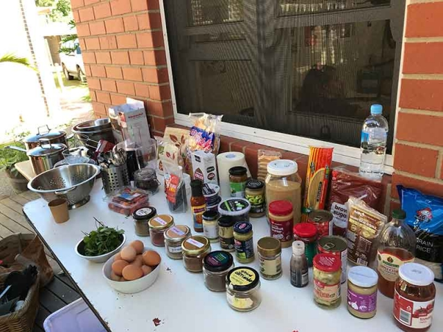 Ingredients MDNC Inaugural Open Day Mullumbimby 2019 Ingredients for the Cook Off